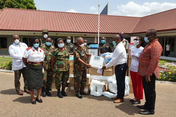 AOMC Donate PPE To 37 Military Hospital, Give GHS100,000 To National COVID-19 Trust Fund